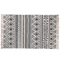 Nordic Morocco Woven Cotton Linen Rug Geometry Pattern Tassels Carpet Living Room Bedroom Bedside Tatami Dust proof Floor Mat