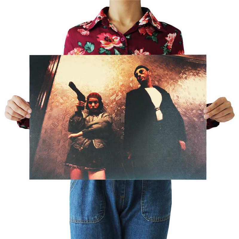 6 Stile Leon The Professional Classic Movie Poster di Film di Carta Kraft Poster Bar Retro Poster Pittura Decorativa Autoadesivo Della Parete