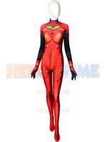 Anime Neon Genesis Evangelion Asuka Langley Soryu Cosplay Costumes 3D Print EVA Asuka Zentai Female/Women/Girls/Lady Bodysuit