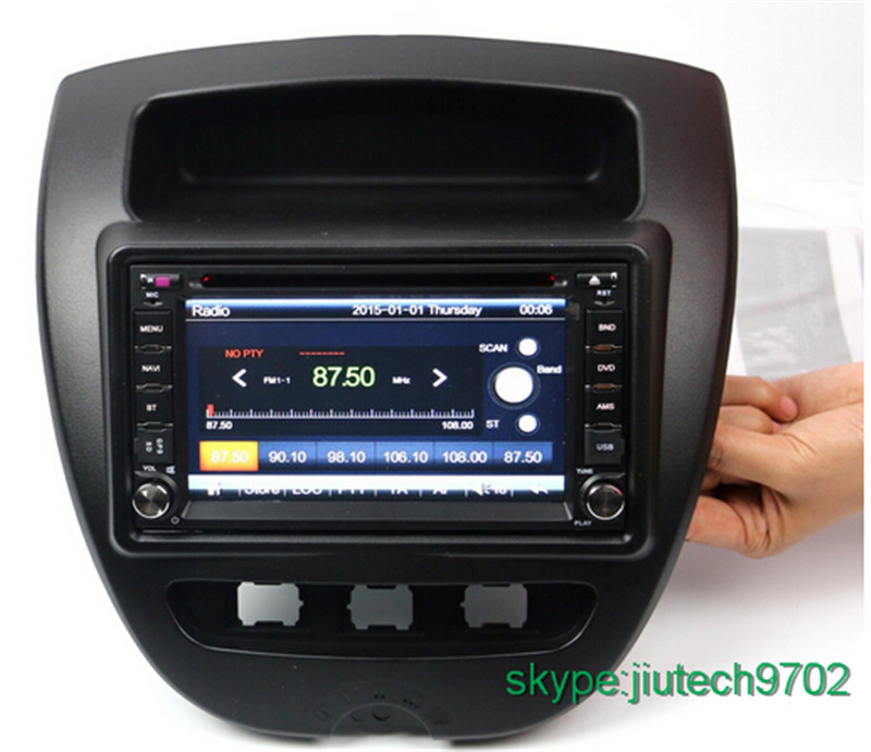 android 5 1 2 din autoradio gps navigation system for aygo citroen c1 car radio dvd player. Black Bedroom Furniture Sets. Home Design Ideas
