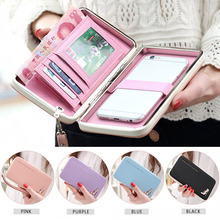 hot deal buy 2017 lovely lady wallets women long wallets purses clutch bags phone case for iphone 6 plus lady cute coin purse lt88