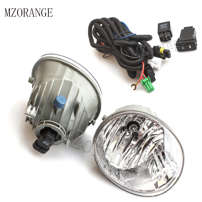 MZORANGE Front Fog Light Fog font b Lamp b font Halogen Bulb Wire For Toyota RAV4