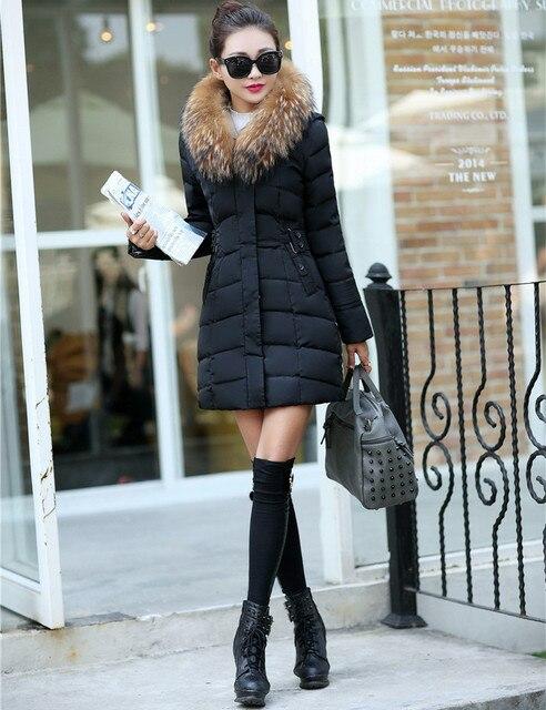 2016 зимнее пальто женщины в полный размер плащ