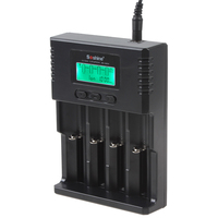 Soshine H4 Universale LCD 12V Ricaricabile Caricabatteria Da Auto Batteria per Li-Ion/Ni-Mh/LiFePO4 AA/AAA/18650/26650 di protezione Batterie
