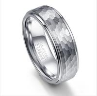 Fashion Men Jewelry Ring Tungsten Ring Men's Silver Trendy party metal Wedding Rings