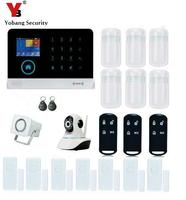 Yobang Security 3G WCDMA WIFI GPRS Wireless Alarm system Home Alarmes With Network Camera PIR Motion Sensor Door Alarm Kits