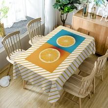 Customize Polyester 3D Tablecloth Yellow Corn/Lemon Fruit Pattern Waterproof Rectangular Dining Table Cloth Wedding Decoration недорого