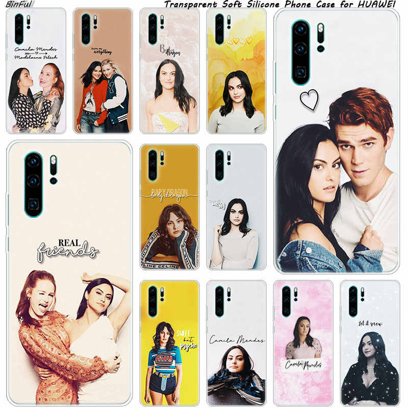 Camila Mendes Riverdale Soft Silicone Phone Case for Huawei P30 P20 Pro P10 P9 P8 Lite 2017 P Smart Z Plus 2019 NOVA 3 3i Cover