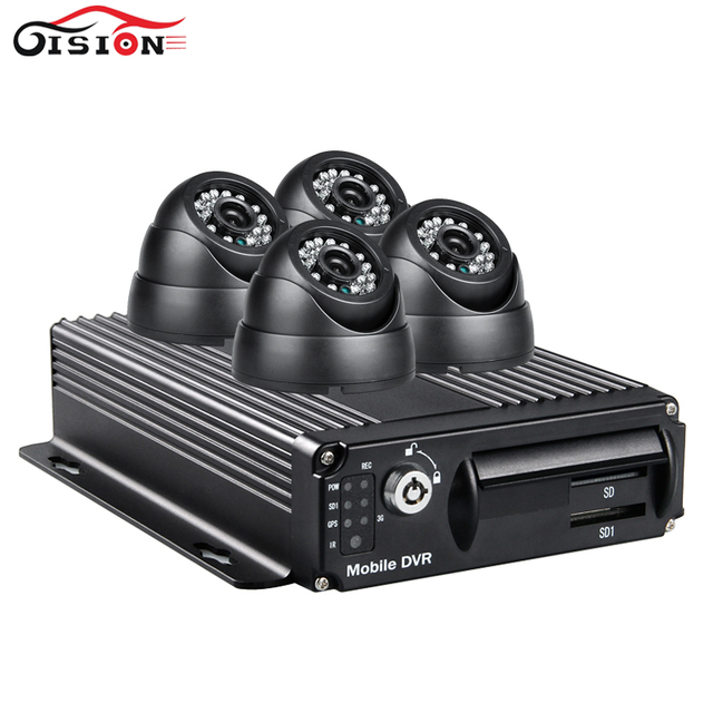 Wifi car digital video recorder vehicle dvr, pc phone monitor Cycle Recording car mobile dvr + 4pcs night vision indoor camera