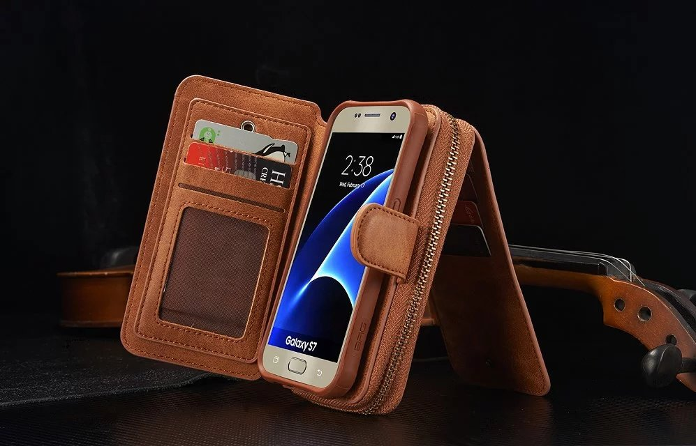 BRG Brand Leather phone case for Samsung Galaxy S4 S5 S6 S6 edge s7 s7 edge