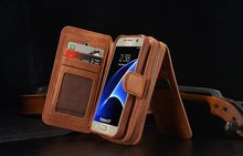 BRG Brand Leather phone case for Samsung Galaxy S4 S5 S6 S6 edge s7 s7 edge case Lady style luxury Zipper Handbag Wallet Purse