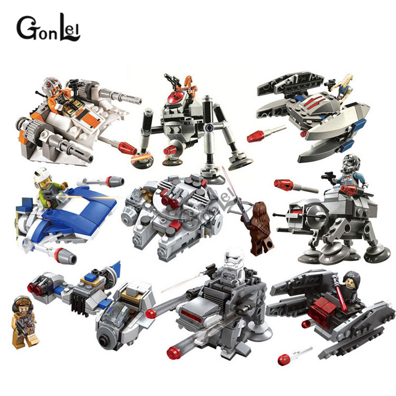 NEW Star Wars MICROFIGHTERS Republic Gunship ARC-170 Starfighter Building Blocks Model Toys Compatible With  Blocks