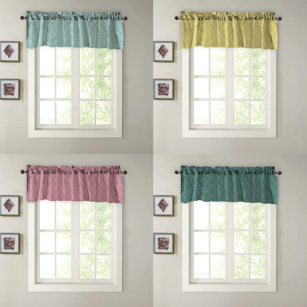 Valance Curtains Extra Wide And Short Window Treatment Kitchen Living Bathroom Bay Window