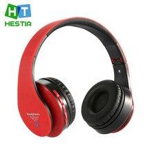 HESTIA Plegable Bluetooth Wireless HIFI Auriculares Estéreo Micrófono de manos libres de llamadas MP3 DJ music FM radio card TF auricular PC teléfonos