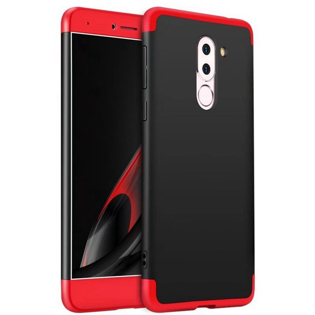 cheaper 95def fa423 US $4.99 |MuTouNiao For Huawei GR5 2017 360 Protection Shockproof Red and  black Plastic PC Hard Back Case Cover For Huawei GR5 2017-in Half-wrapped  ...