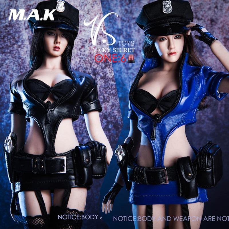 f2724e62d18da sexy 1/6 vstoys 1/6 18XG16 COS policewoman uniform suit W weapons For 12