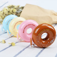 Kawaii Donuts Correction Tape Novelty candy color decorative corrective tapes Korean stationery material office school supplies(China)