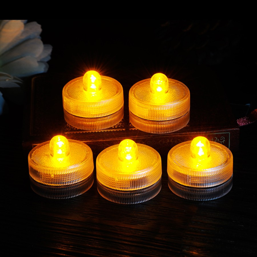 Waterproof Submersible LED Tea Light Electronic Candle Light (10)