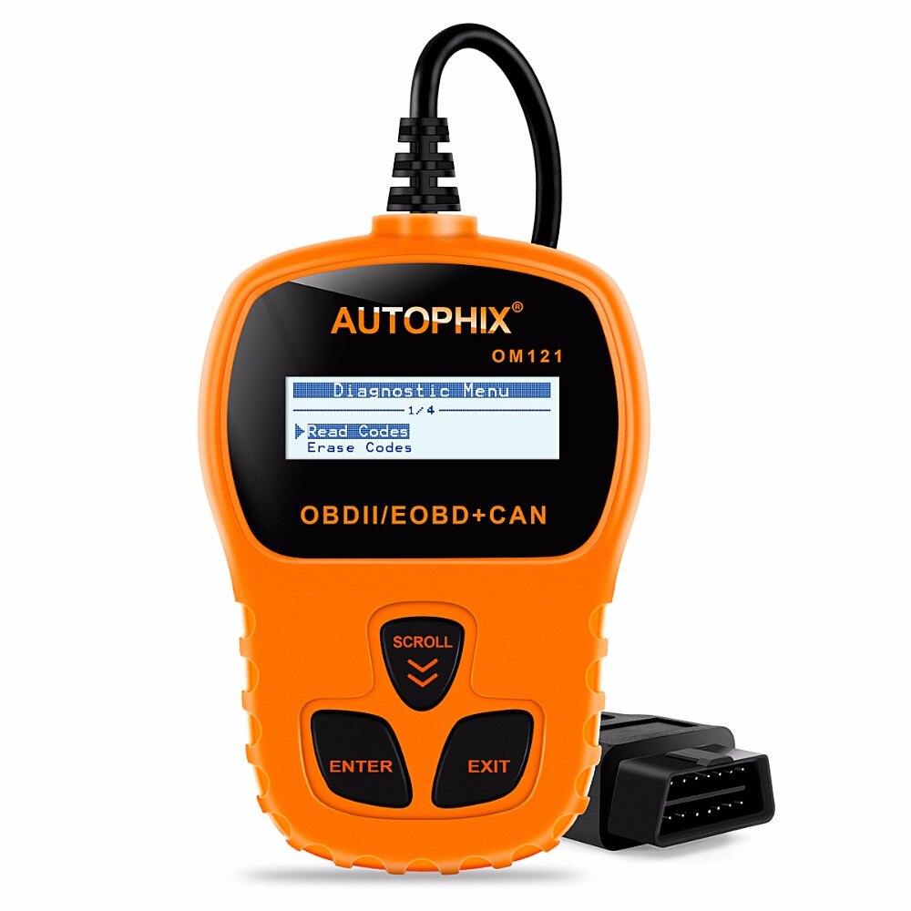 Prix pour OBD2 Car Auto Scanner Universel Autophix OM121 OBD2 Scanner Lecteur de Code D'erreur Automotivo Scanner Outil De Diagnostic De Voiture Detecto