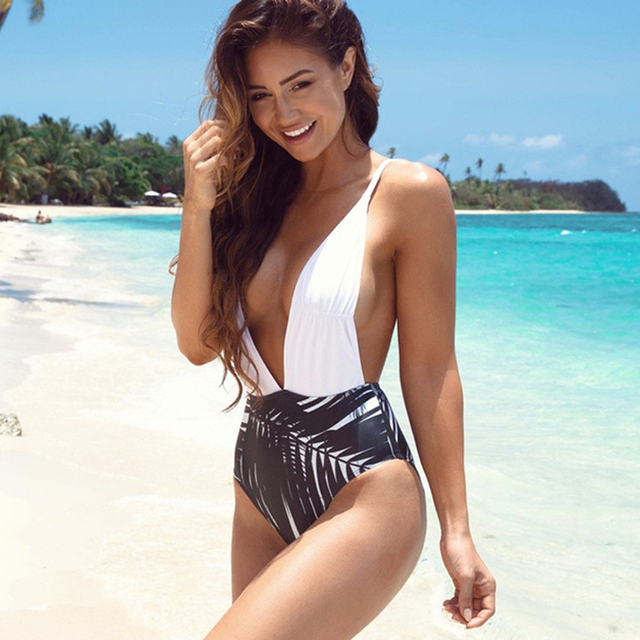 ad095a2d67ac3 2017 Newest Hot Swimsuits One-pieces Swim Wear Womens Trikinis High Cut  Push Up Bathing Suits Sexy Deep V Swim Suits One Pieces