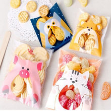 50Pcs Cute Cartoon Animals Cookie Candy Bag Self-Adhesive Plastic Bag For Wedding Birthday Party Biscuits Baking Gift Packaging(China)