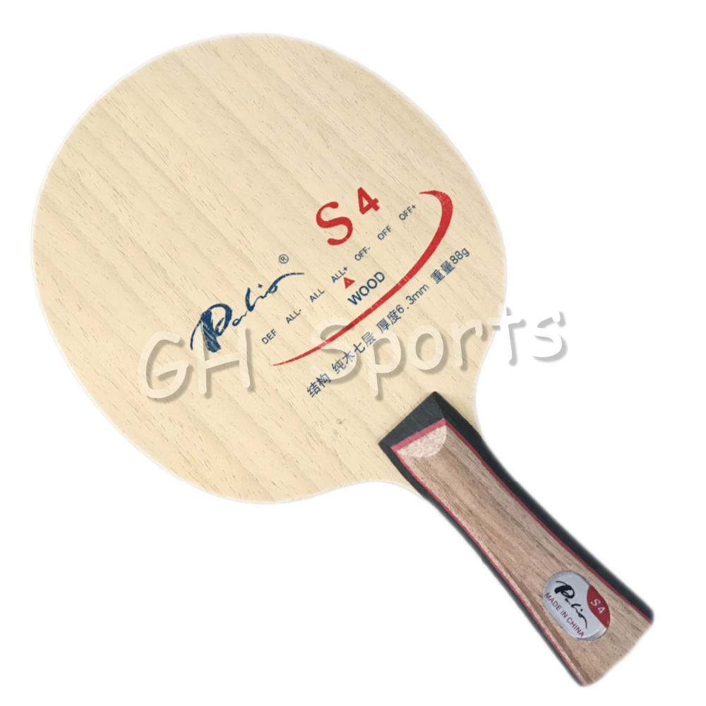Palio S4 (S-4, S 4) Wood ALL+ Table Tennis Blade For PingPong Racket