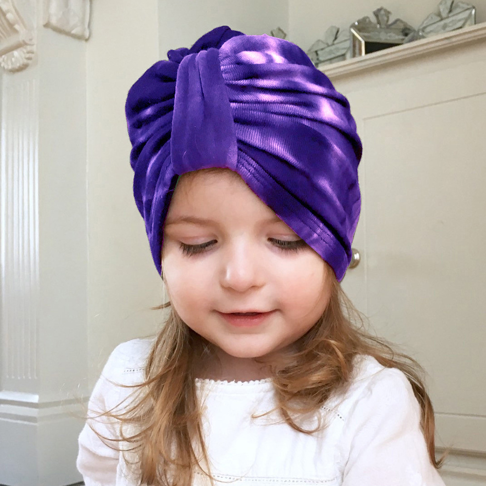 Popular European and American Baby Tie-dyed Childrens Hat Tie Knot Bohemian Style Indian Hat Baby Hat Headwear WH626