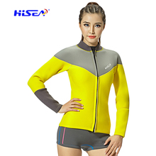 Everest Girls Neoprene Compressed Scube Diving Tops Solely Lengthy Sleeve Zippered Jellyfish Snorkeling Diving Browsing Coat Jacket