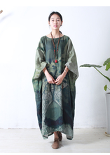2017 Лидер продаж брендов Этническая льняное платье Роскошные свободные Весна Лето Длинные льняное платье элегантное платье Модная одежда