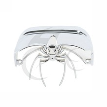 Motorcycle ABS Chrome 3D Spider Rear Tail Light Cover for Harley Dyna Electra Glide FLHX