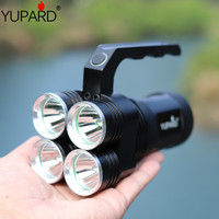 YUPARD 4* XM L2 T6 LED Spotlight Flashlight Searchlight Torch bright 18650 rechargeable battery tactical camping hunting