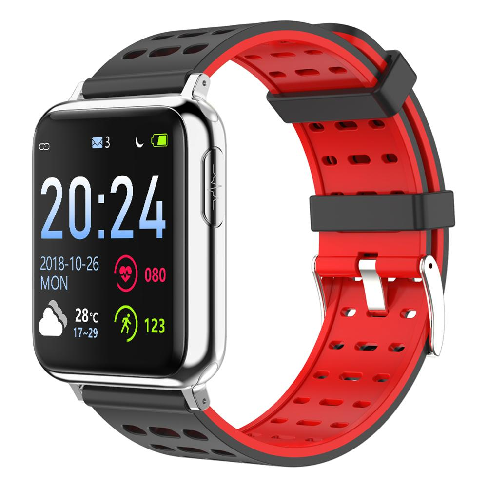 1 3 Inch Color Screen ECG PPG Blood Pressure Heart Rate Monitor IP67 Waterproof Fitness Tracker