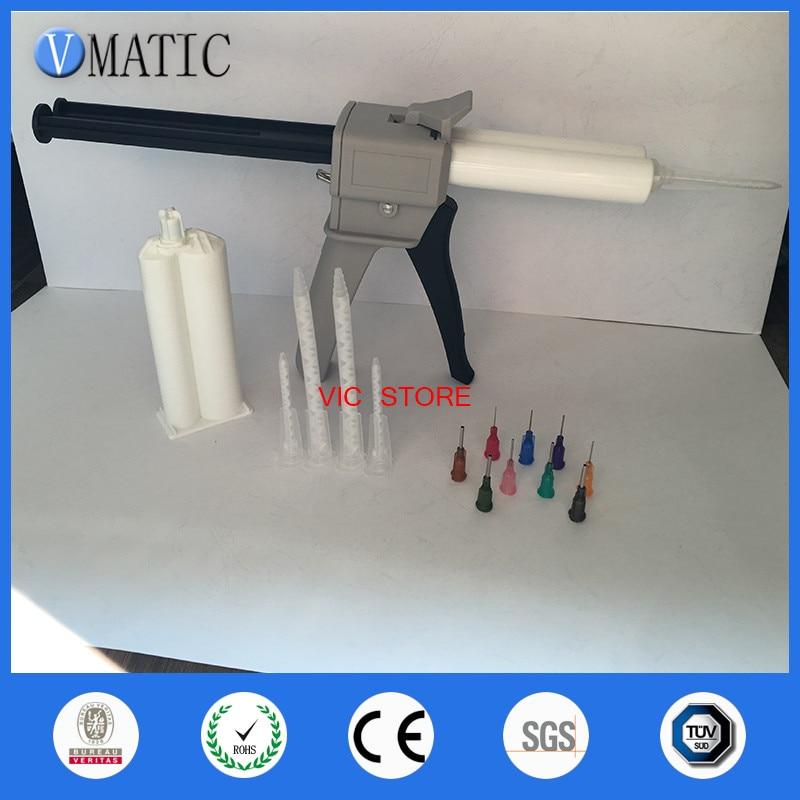 Free Shipping AB glue cartridge 2:1 1:1 Universal 50ML Manual Dispense Gun with Cartridge &Mixing Nozzle цена