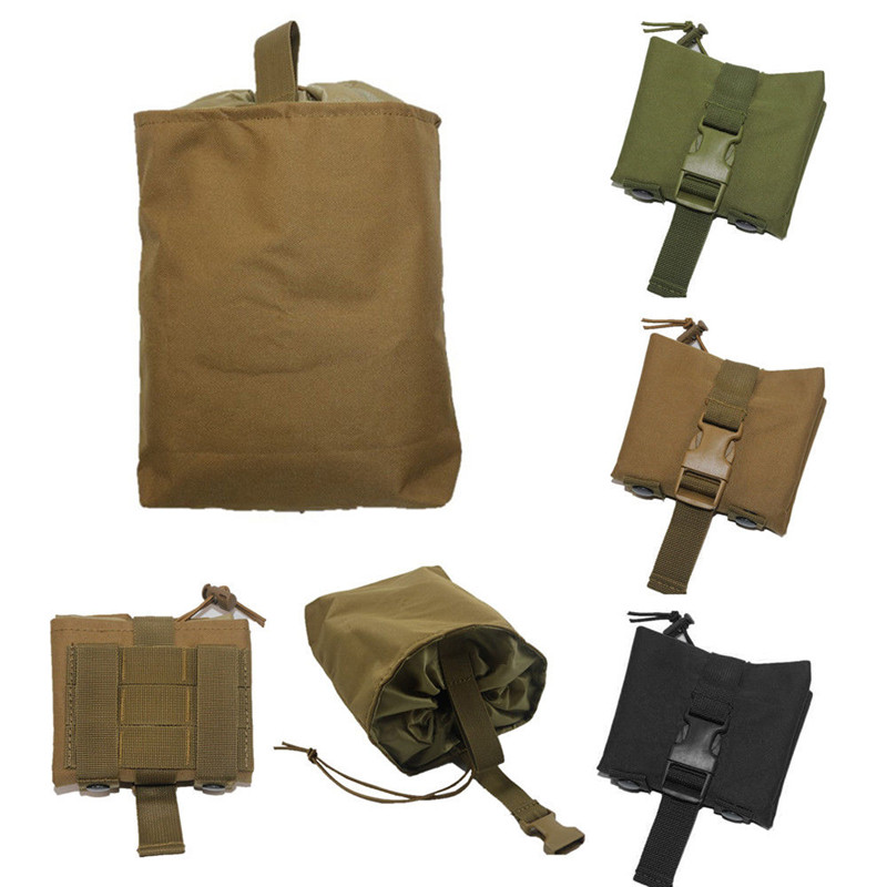 Tactical Utility Magazine Mag Drop Dump Pouch Molle Belt Hunting Airsoft Military Gun Ammo Foldable Bag airsoft tactical bag 600d nylon edc bag military molle small utility pouch waterproof magazine outdoor hunting bags waist bag
