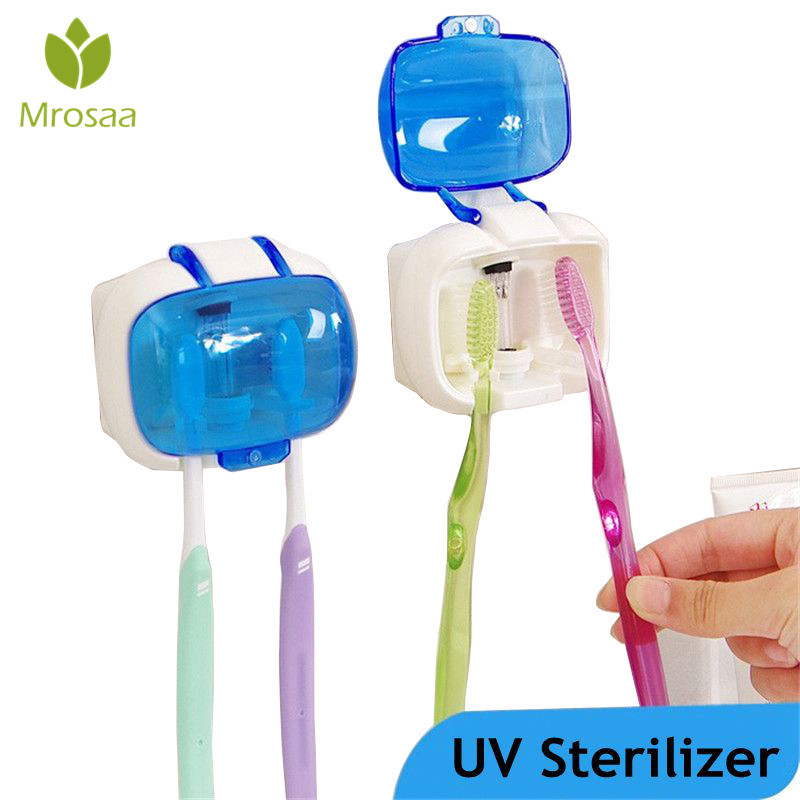 Toothbrush Sterilizer Wall Mounted UV Lamp Disinfection Storage Box Anti-bacteria Ultraviolet Tooth Brush Sterilizing Case Зубная щётка