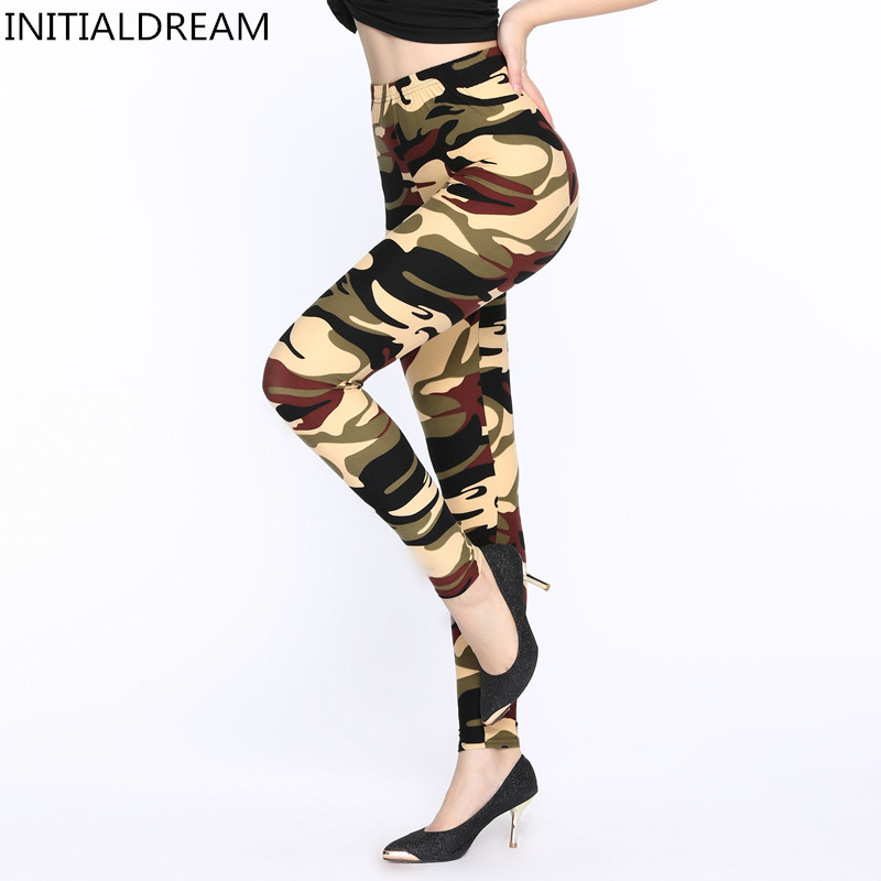 Hot 2018 Women Camouflage printing High Waist Elastic Leggings Womens Breathable Fitness Leggins Pant Casual Clothing For Women