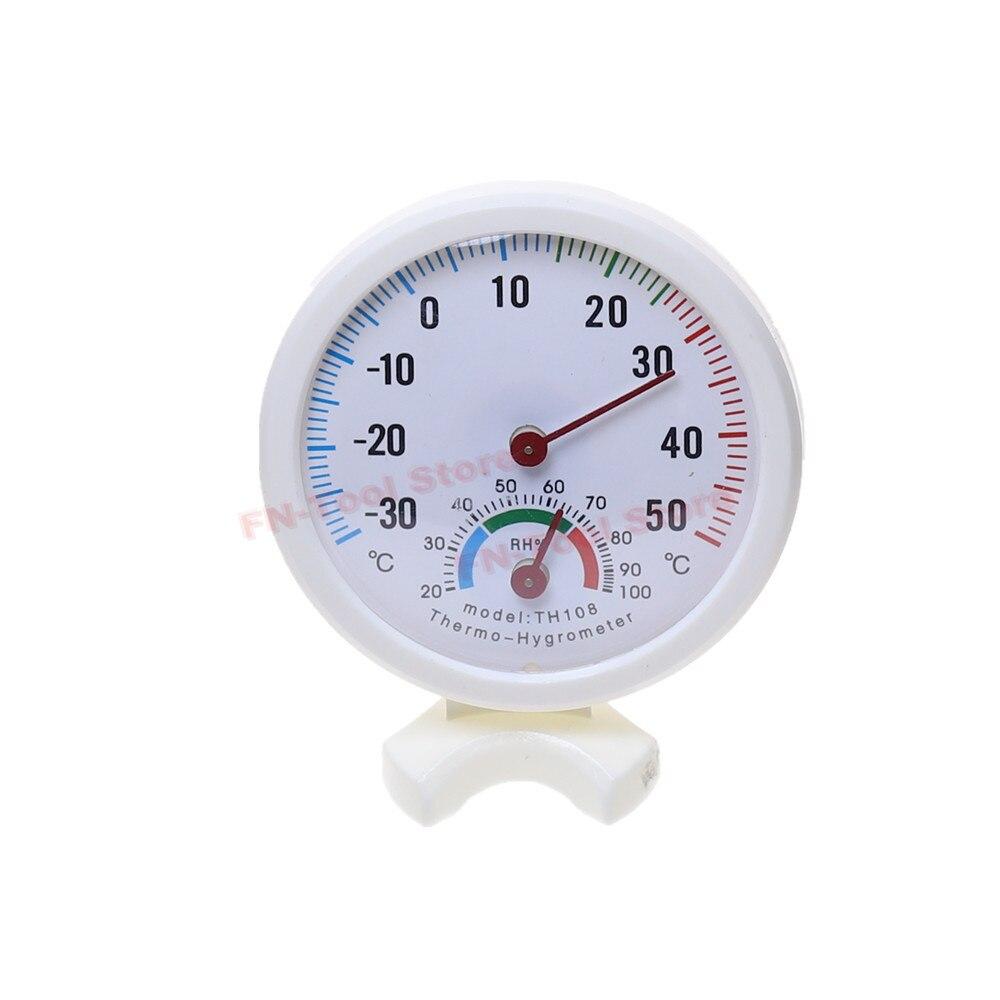 Thermometer Hygrometer Mini LCD Digital Bell-shaped Scale Thermometer Hygrometer for Indoor Wall Mount Temperature Measure Tool