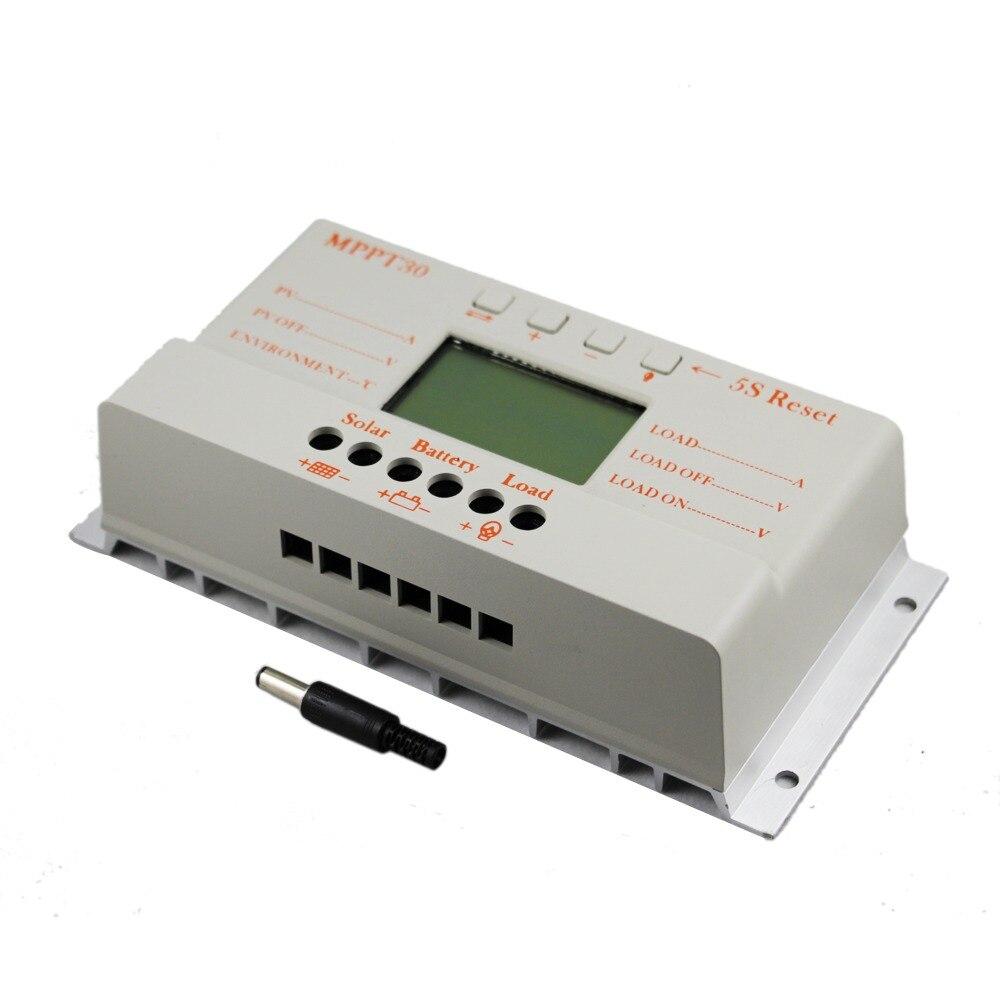 MPPT 30A Solar Laderegler 5 v USB Ladegerät 12 v 24 v Auto Solar Panel Batterie LCD Ladegerät Regler MPPT M30 30 Amps PV System