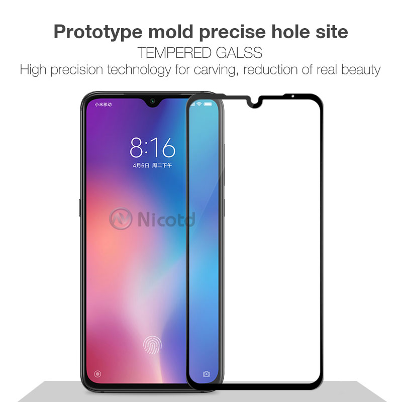 Tempered Glass For Xiaomi Mi 9 Mi8 SE 8lite 9H Screen Protector For Xiomi A2 lite 5X 6X Note7 Full Cover Glass Film Pocophone F1 (3)