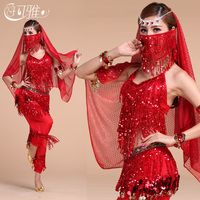 2015 New Arrival Fashion For Women Belly Dance Costumes For Performance In Ballroom Competition With 4