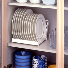 цена на High quality foldable dish plate drying  rack organizer drainer plastic storage holder kitchen accessories,Free shipping.
