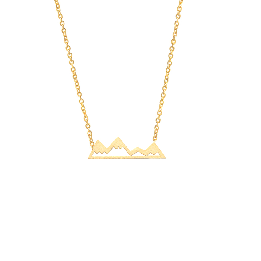 Gorgeous Tale Boho Jewelry Gold Chain For Men Dainty Necklace Stainless Steel Charm Mountain Necklace Collar Femme Boho Jewelry