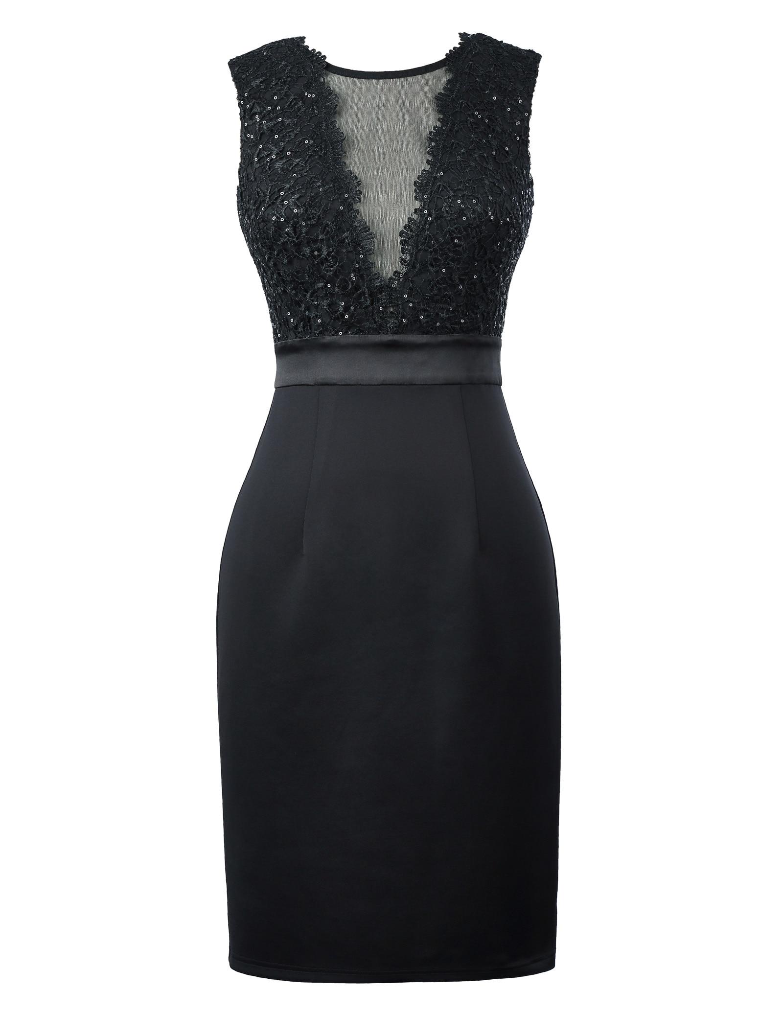 למסיבת האירוע הרשמי סקסי באורך הברך שמלות קוקטייל Bodycon השחור שמלת חלוק שמלת קוקטייל קצר 2018 שמלות נשף קיץ