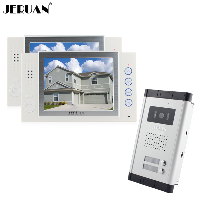 JERUAN Brand New Apartment Intercom 8`` LCD Video Door Phone Doorbell intercom System for 2 house 1V2+8GB card+free shipping 1pcs new free drop shipping card for ps2 for playstation 2 for ps 2 8mb 8m 8 mb memory brand new