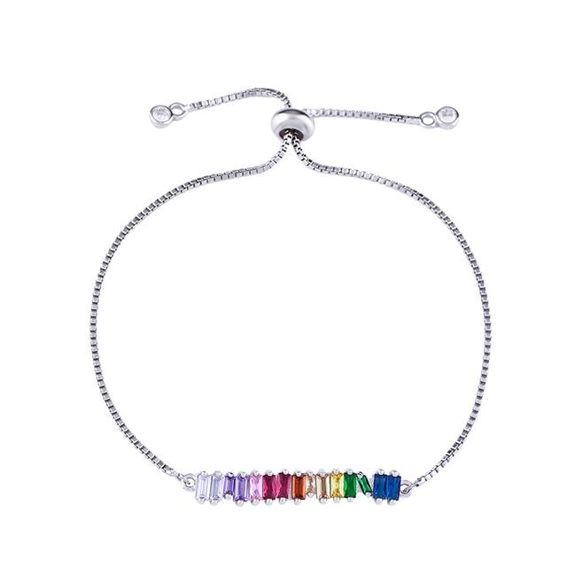 Rainbow Necklace Woman...
