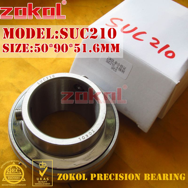ZOKOL bearing UC210 SUC210 90510 Stainless steel Pillow Block Ball Bearing 50*90*51.6mm zokol bearing uc209 suc209 90509 stainless steel pillow block ball bearing 45 85 49 2mm