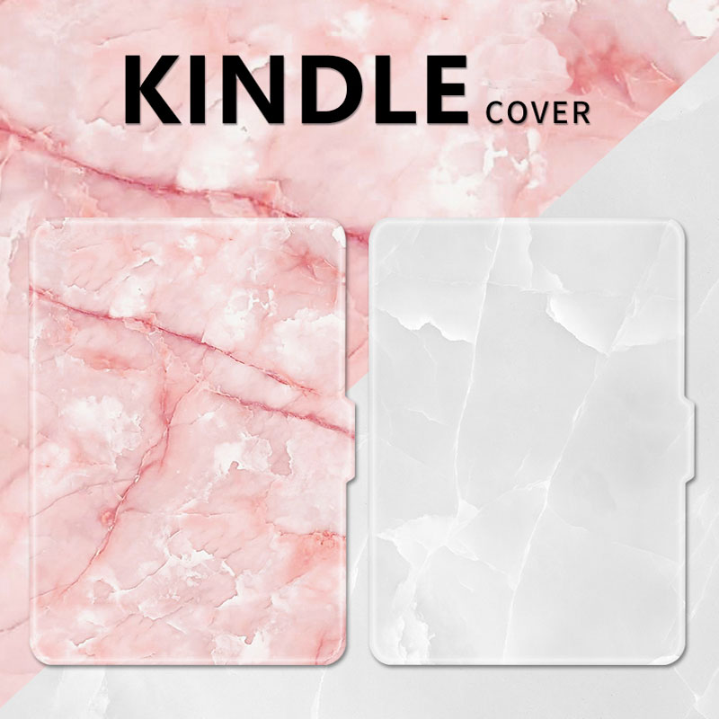 Mimiatrend Pink White Marble Grain PU Cover for Amazon Kindle Paperwhite 1 2 3 449 558 Voyag Case 6 Ebook Tablet Accessories pu leather ebook case for kindle paperwhite paper white 1 2 3 2015 ultra slim hard shell flip cover crazy horse lines wake sleep