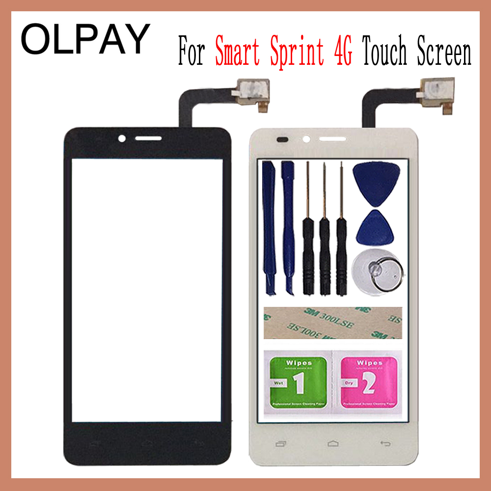 OLPAY 4.5'' For MTC Smart Sprint 4G Touch Screen Glass Digitizer Panel Lens Sensor Glass Free Adhesive And Wipes