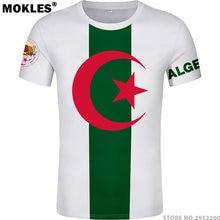 3c1e18435b87 ALGERIA t shirt free custom made name number dza t-shirt islam diy arabic  algerie arab print text word black flag white clothing