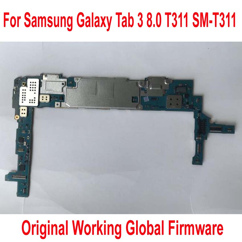 Global Firmware Original Work Motherboard For Samsung Galaxy Tab 3 8.0 T311 SM-T311 Mainboard Logic Circuits Card Fee Flex Cable
